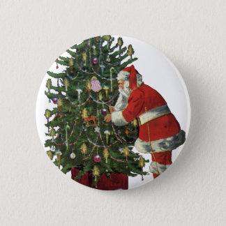 Vintage Christmas, Santa Claus with Presents 6 Cm Round Badge