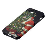 Vintage Christmas, Santa Claus with Presents iPhone 5 Cases