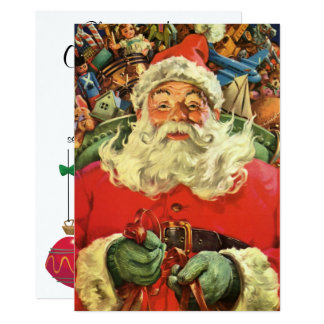 Vintage Christmas Santa Claus with Toys Invitation