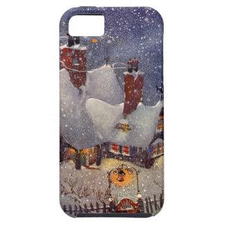 Vintage Christmas, Santa Claus Workshop North Pole iPhone 5 Case