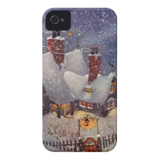 Vintage Christmas, Santa Claus Workshop North Pole Case-Mate iPhone 4 Case