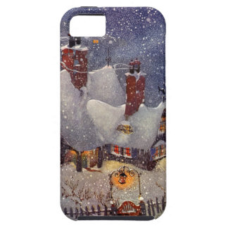 Vintage Christmas, Santa Claus Workshop North Pole iPhone 5 Case