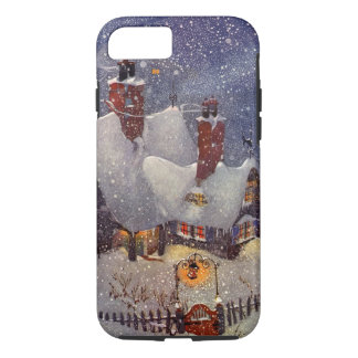 Vintage Christmas, Santa Claus Workshop North Pole iPhone 8/7 Case