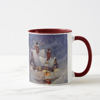 Vintage Christmas, Santa Claus Workshop North Pole Mug