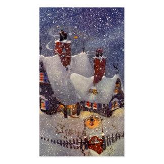 Vintage Christmas, Santa Claus Workshop North Pole Pack Of Standard Business Cards