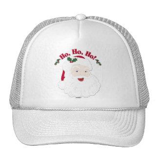 Vintage Christmas Santa Ho,Ho,Ho! Mesh Hats