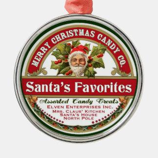 Vintage Christmas Santa Ornament Candy Favorites