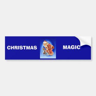 Vintage Christmas Santa s magic friend Bumper Sticker