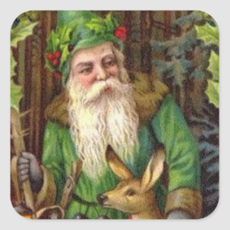 Vintage Christmas Santa sticker