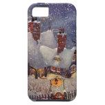 Vintage Christmas, Santa's Workshop at North Pole iPhone 5 Case