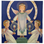 Vintage Christmas, Scandinavian Saint Lucia Angels Cloth Napkins