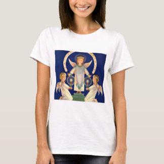 Vintage Christmas, Scandinavian Santa Lucia Angels T-Shirt