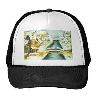 Vintage Christmas scene Hat