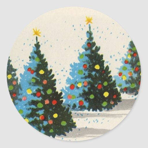 Vintage_Christmas_Scene sticker