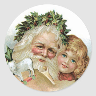 Vintage Christmas seals or stickers