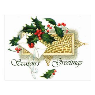 Vintage Christmas Season s Greetings Post Cards