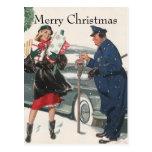 Vintage Christmas, Shopping Presents Policeman
