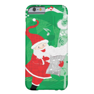 Vintage Christmas, Singing and Dancing Santa Claus Barely There iPhone 6 Case