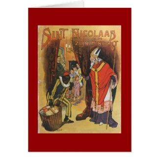Vintage Christmas Sint Nicolaas Card