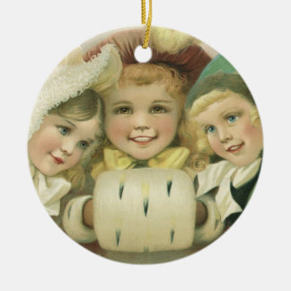 Vintage Christmas Sisters, Victorian Children Christmas Ornament