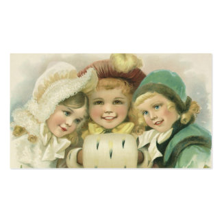 Vintage Christmas Sisters, Victorian Children Pack Of Standard Business Cards