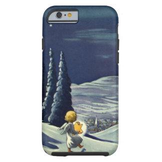Vintage Christmas Snow Angel Walking with a Star Tough iPhone 6 Case