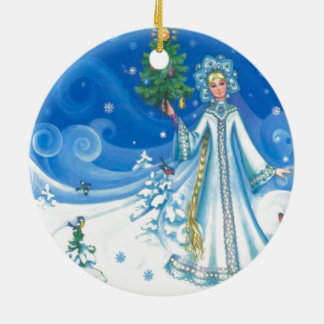 Vintage Christmas, Snow maiden Christmas Ornament
