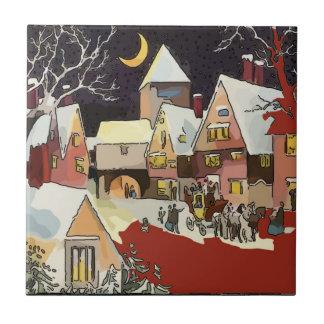 Vintage Christmas Snow Tiles