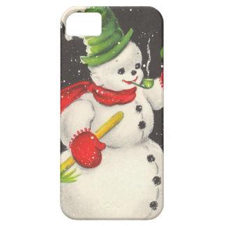 Vintage Christmas Snowman iPhone 5 Cases