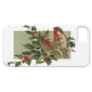 Vintage Christmas Songbirds and Holly iPhone 5 Covers