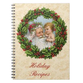 Vintage Christmas Spiral Notebook