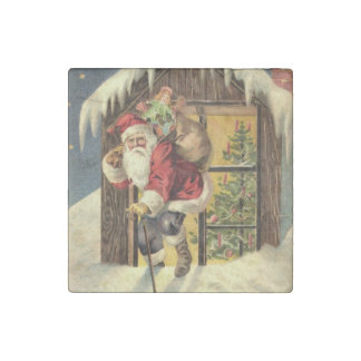 Vintage : Christmas - Stone Magnet