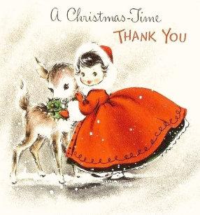 Retro Christmas Thank You Cards Zazzle Uk