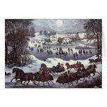 Vintage Christmas Thank You Card
