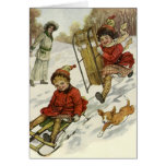 Vintage Christmas Thank You Cards