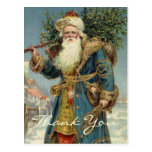 Vintage Christmas Thank You Cards Post Card