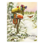 Vintage Christmas Thank You Cards Post Cards