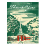 Vintage Christmas Thank You Cards Postcard