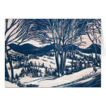Vintage Christmas Thank You Greeting Cards