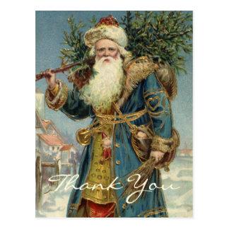 Vintage Christmas Thank You Post Card