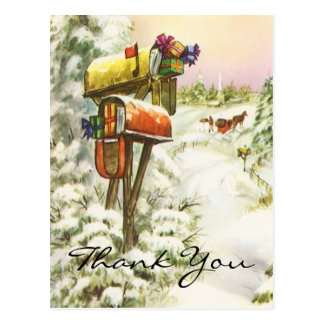 Vintage Christmas Thank You Post Cards