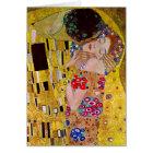 Vintage Christmas, The Kiss by Gustav Klimt Card