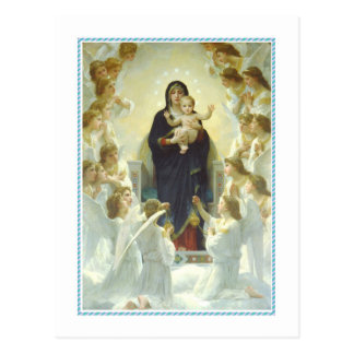 Vintage Christmas,The Virgin with Angels Postcard
