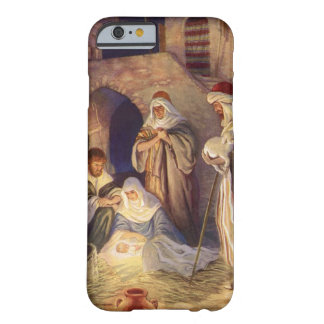 Vintage Christmas, Three Shepherds and Baby Jesus Barely There iPhone 6 Case