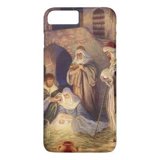 Vintage Christmas, Three Shepherds and Baby Jesus iPhone 8 Plus/7 Plus Case