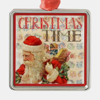 Vintage Christmas Time Santa Claus Christmas Ornament
