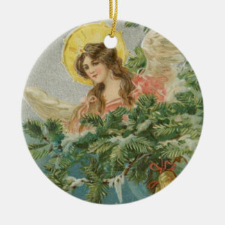 Vintage Christmas Town Angel Christmas Ornament