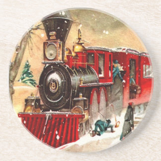 Vintage Christmas Train Coaster