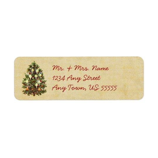 Vintage Christmas Tree Address Labels