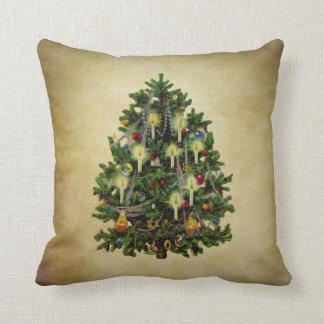vintage christmas tree cushion